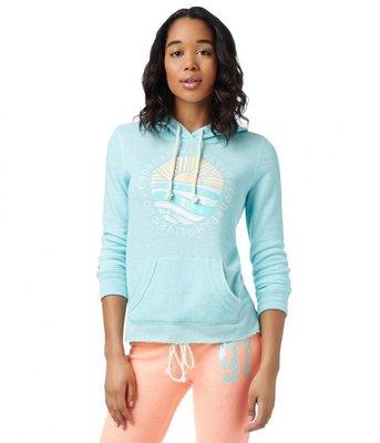 MISHIANA 美國休閒品牌 AEROPOSTALE 女生款質感柔棉刷毛連帽長T ( 特價出售 )
