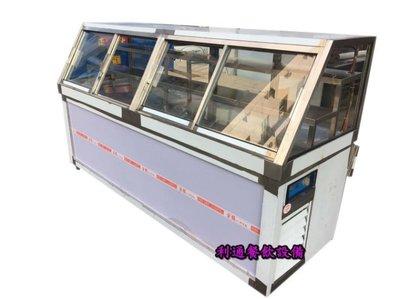 《利通餐飲設備》8尺 滷味展示台 鹹酥雞展示台 展示冰箱 冷藏展示櫃 斜角玻璃櫃 前後開冰箱