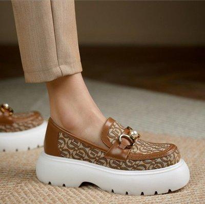 Fashion*樂福鞋~厚底休閑懶人鞋...
