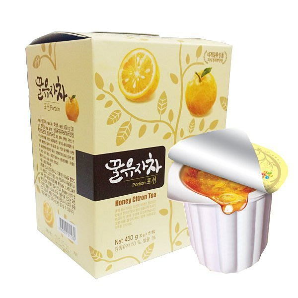 現貨 韓國 膠囊 蜂蜜柚子茶球 禮盒 450g(30公克×15個) 伴手禮 熱飲 柚子醬 蜂蜜柚子茶 (隨身包)