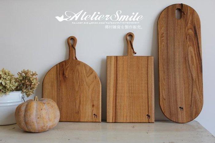 [ Atelier Smile ] 鄉村雜貨  烘焙廚房專用 無漆老榆木餐盤 托盤-長橢 50cm (現+預)