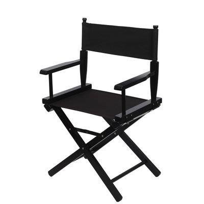 (導演椅出租) 實木黑色標準導演椅(Dinner Height) 化妝椅折疊便攜式戶外椅