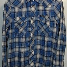 HYSTERIC GLAMOUR BLUE CHECKERS SHIRT ( SIZE S )