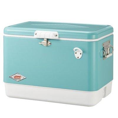 【山野賣客】美國 Coleman 51L經典鋼甲冰箱 美國藍 大容量 冰桶 CM-03739 60周年紀念款 行動冰箱