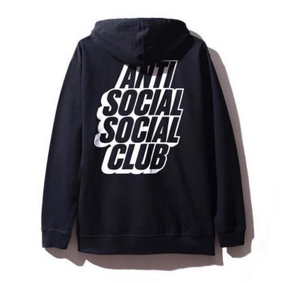 全新商品 Anti Social Social Club ASSC Blocked Rainbow 連帽 長袖 帽TEE