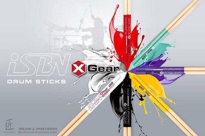 ☆ 唐尼樂器︵☆優質台灣精品 iSBN i-306X X Gear 5A 胡桃木爵士鼓防滑款鼓棒(白色夜光/螢光)