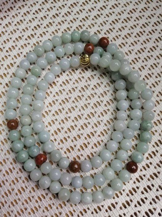 《D.N.醉愛翡翠》天然緬甸玉A貨翡翠糯種, 108顆珠鏈