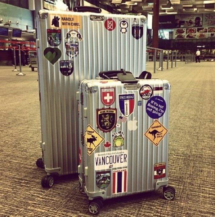 行李箱貼紙  歐美潮牌拉桿箱行李箱貼紙筆記本吉他滑板貼畫旅行箱貼紙防水  全館免運