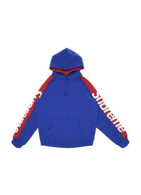 Supreme Sideline Hooded Sweatshirt Royal SS18 帽t 全新m號