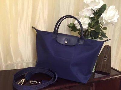 ╭☆包媽子店☆LONGCHAMP LE PLIAGE NEO 加厚款尼龍布餃子包1515/1512((深藍色))