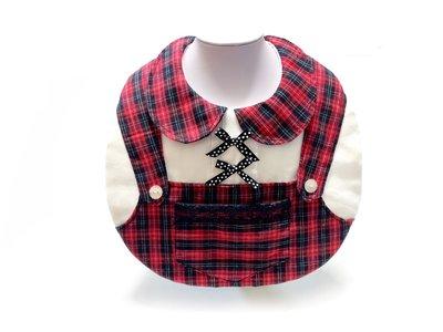學院風/搖滾風/蘇格蘭格紋吊帶褲圍兜兜