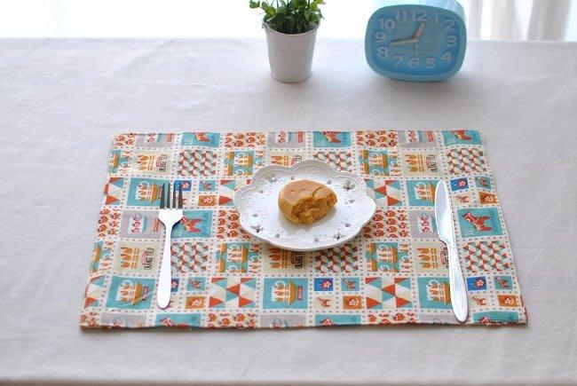 雙面彩色手工棉麻餐墊