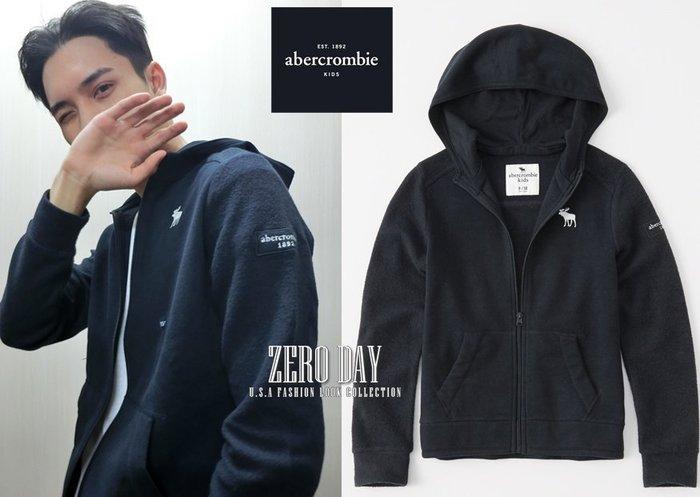 美國a&f真品abercrombie&fitch boy icon fleece full-zip hoodie連帽外套