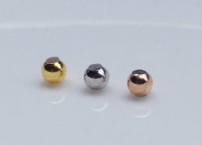 嗨,寶貝銀飾珠寶* 925純銀飾☆925純銀鍍黃金 玫瑰金 三色金純銀定位珠 矽膠定位銀珠