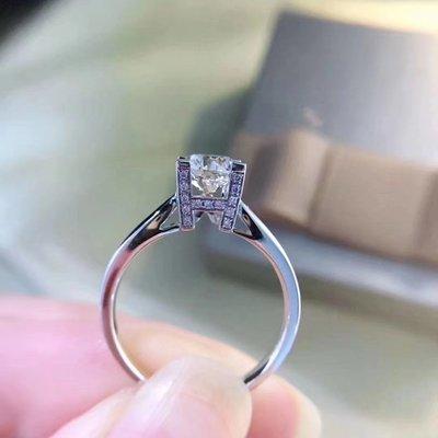 八心八箭+特色邊托【1ct 南非鑽石戒指💍 H color, VS 級別, 18K白金鑲嵌】珠寶首飾介指吊墜吊咀