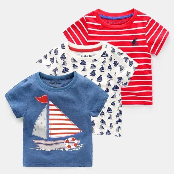兒童T恤男童短袖T恤2018裝新款正韓童裝兒童寶寶半截袖小童上衣U8396