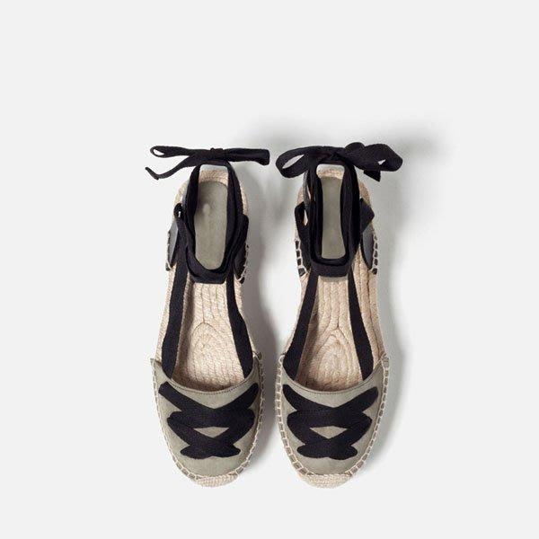 5Cgo【鴿樓】會員有優惠 530902236986 夏松糕草編麻繩漁夫鞋真皮厚底包頭中空綁帶羅馬涼鞋 单鞋