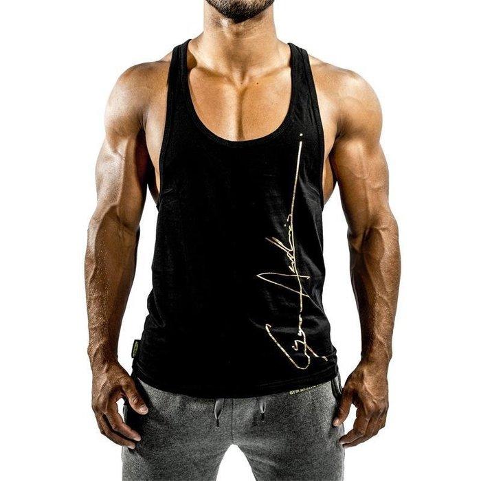 型男 肌肉男 健身背心 男短T 男短褲  健身服肌肉肌肉袋鼠男裝夏工子兄弟運動純棉健身汗衫寬松工字背心