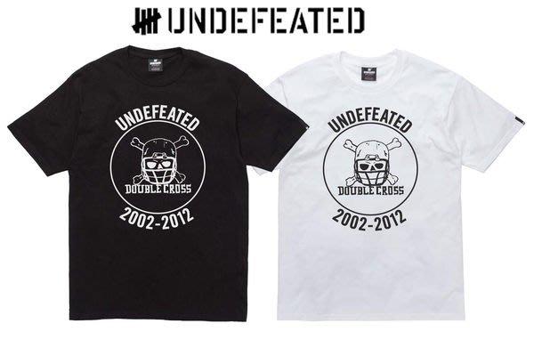 【超搶手】全新正品 2012 A/W 秋季新款 UNDEFEATED SS SKULL CROSS TEE 黑灰白M L