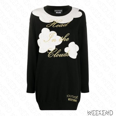 【WEEKEND】 BOUTIQUE MOSCHINO 針織 花朵 短洋 折扣