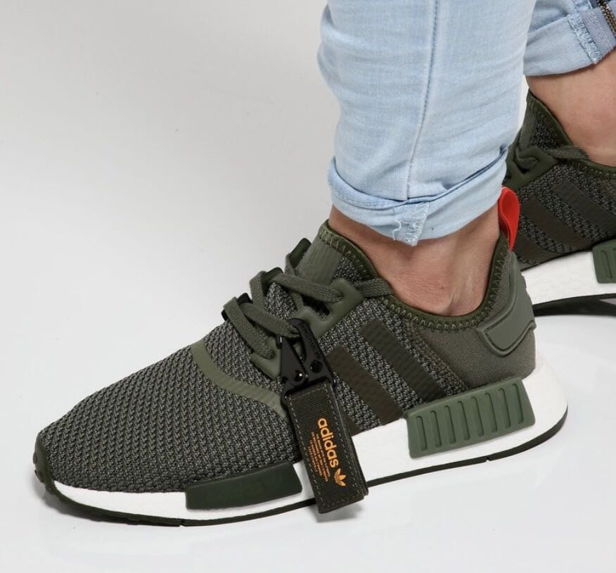 adidas NMD R1 Running Shoes Solid Grey White Bb2886 Size 8.5