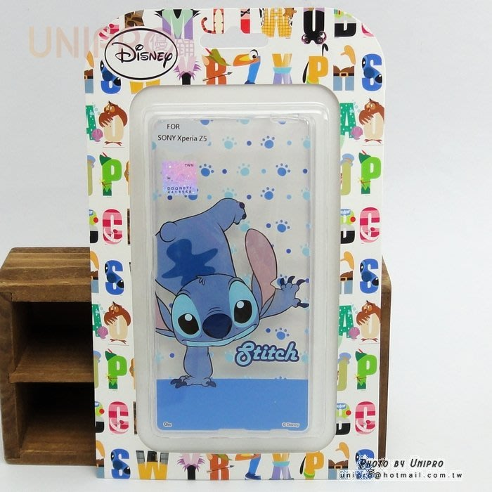 【UNIPRO】迪士尼 SONY Xperia Z5 透明 TPU 倒立史迪奇 STITCH 手機殼 軟殼
