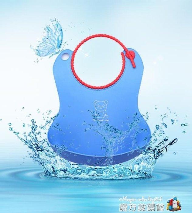 嬰兒圍兜塑料寶寶吃飯兜 仿硅膠防水立體口水巾