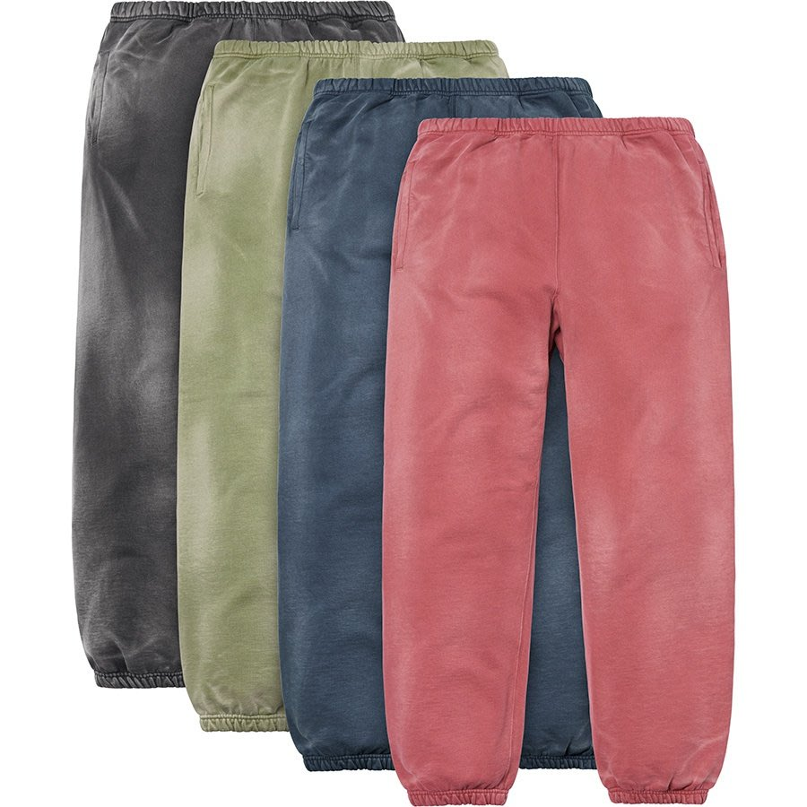 【美國鞋校】 預購 Supreme FW18 Bleached Sweatpant 毛絨棉褲 4色