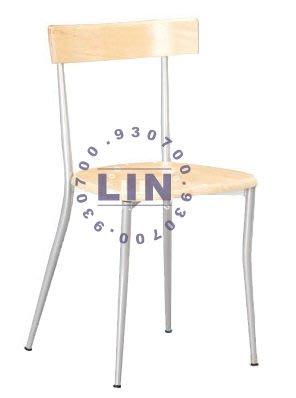 【品特優家具倉儲】A957-14餐椅烤銀雅美原木餐椅