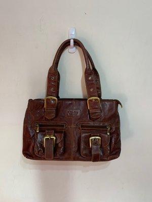 「 二手包 」 Cordon Leather 真皮手提肩背包 ( 咖啡 ) 18