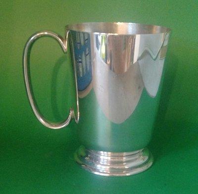 277 高級英格蘭鍍銀杯vintage presentation silver plate 1 pint tankard