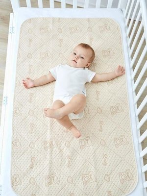 日和生活館 寶寶尿布墊嬰兒隔尿墊防水透氣可洗超大號新生兒童寶寶大號防漏表純棉姨媽墊S686