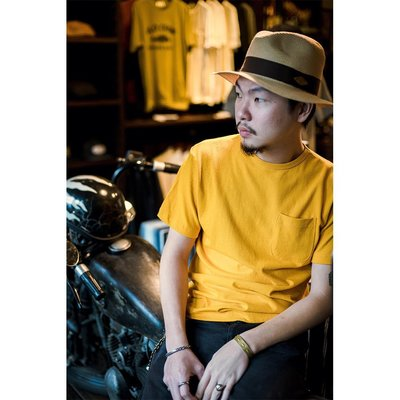 "Retrodandy - "" Basic Pocket Tee "" 口袋素T - 芥黃 Mustard"