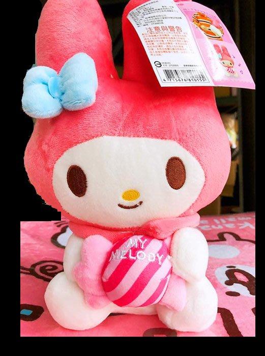 正版授權 美樂蒂 玩偶 音樂娃娃 抱糖果款