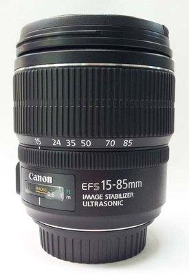 @佳鑫相機@(中古託售品)CANON EF-S 15-85mm F3.5-5.6 IS USM  廣角變焦鏡 彩虹公司貨 台北市
