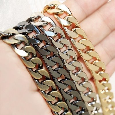 ☜男神閣☞扁鏈包包鏈條配件帶包帶肩帶單買斜挎小包包鏈子不掉色金屬鏈