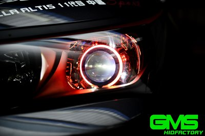 GAMMAS-HID 台中廠 GMS 六代 TOYOTA NEW ALTIS 11.5代   遠近魚眼 LED 飾圈08