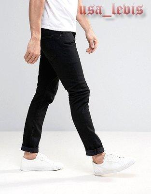 【優惠窄管28-38腰】美國Levi s 501 SKINNY BLACK PUNK 黑色丹寧褲合身小直筒牛仔褲510