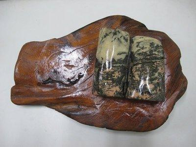 二手舖~玫瑰石木雕擺件 擺飾 掛飾