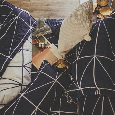MIT精梳棉-床罩組/雙人加大【莫爾狂想】(5件式)絲薇諾