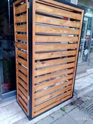 ((伯特利工坊))~室外南方松圍籬冷氣保護罩(接受顏色規格樣式訂做)
