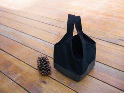 【嬤包】手作小提袋/便當袋-黑色墨綠