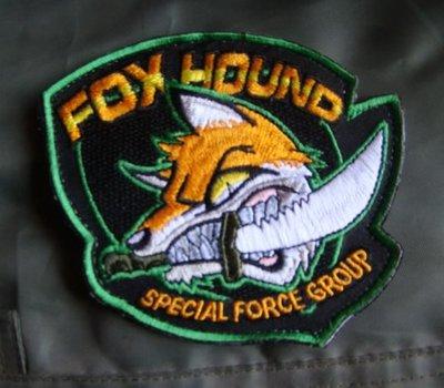 刺繡徽章游戲周邊 Foxhound徽章 潛龍諜影(合金裝備/MGS)魔術貼