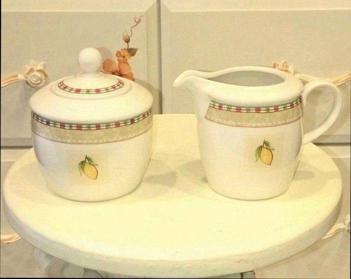 齊洛瓦鄉村風瓷製糖罐奶罐套組