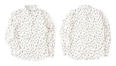 LESS L/S ALL OVER BEVERAGE CAN PATTERN SHIRT 長袖襯衫