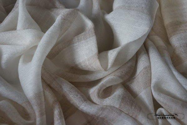 綠色環保系列™無染原色100% cashmere pashmina Shahmina英倫格雙色鑽石紋圍巾/披肩