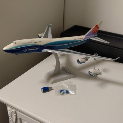 中華航空 飛機模型 波音 747-400 華航airline boeing747-400 CHINA AIRLINES 飛機模型 民航機 客機 藍鯨彩繪機