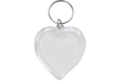 愛心形鑰匙圈素材 材料 壓克力 照片 相片 DIY 客製化 婚禮小物 手工 吊飾 吊牌 批發 鑰匙圈 訂作 製作 轉印王