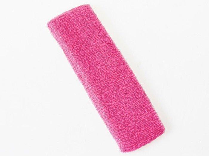 運動毛巾頭帶 吸汗運動髮帶 吸汗頭巾 – 玫紅 (實品顏色較深) FA-37393