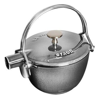 法國Staub 鑄鐵 水壺 茶壺 1.15 L  16.5CM 圓形 法國製 (石墨灰)  耶誕禮物 尾牙贈品